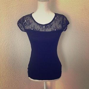 Divided by H&M Black Lace Top 6